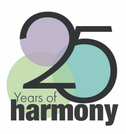 25 Years of HARMONY logo
